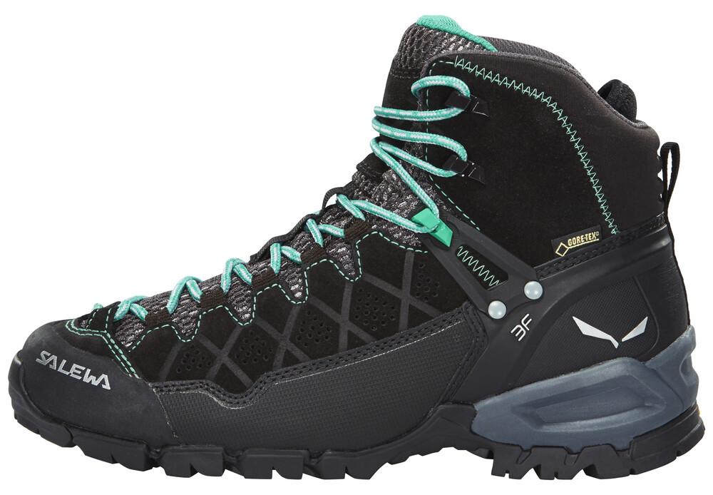 Salewa Alp Trainer Mid GTX Shoes Women black out/agata UK 4,5